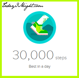 todayimight.com | Achieving 30,000 Steps | 30,000 Steps Badge - Trail Shoe