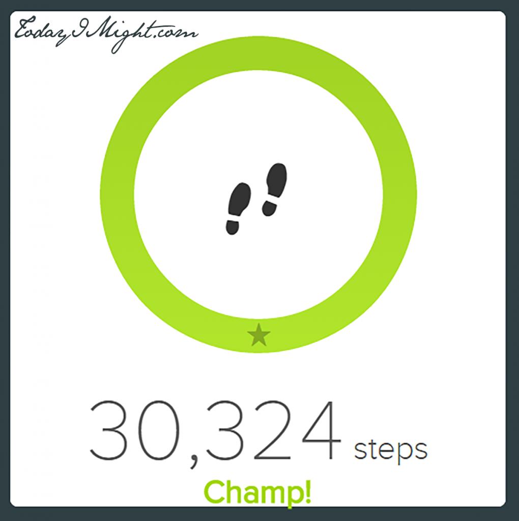 todayimight.com | Achieving 30,000 Steps | 30,000 Steps