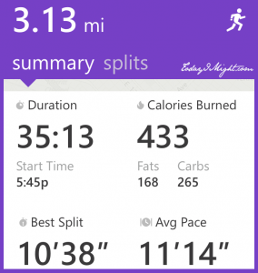 todayimight.com | Running | 5km Summary