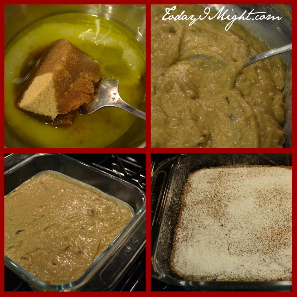 todayimight.com | Eggless Applesauce Cake | Method