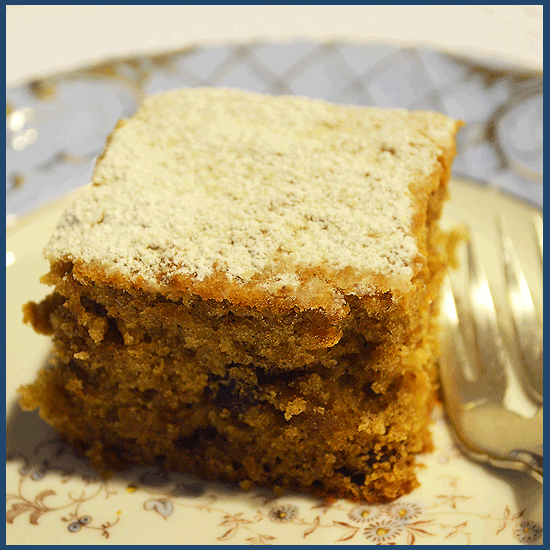 todayimight.com | Eggless Applesauce Cake Plated