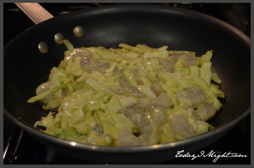 todayimight.com   Okonomiyaki   Batter in Skillet