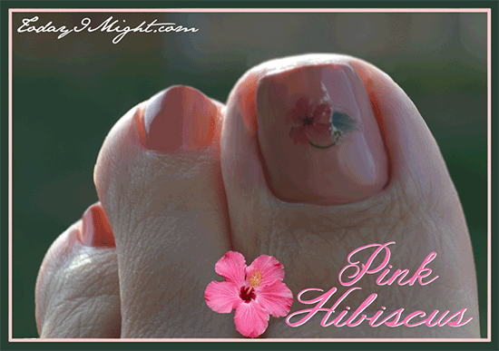 todayimight.com | Pink Hibiscus Nails