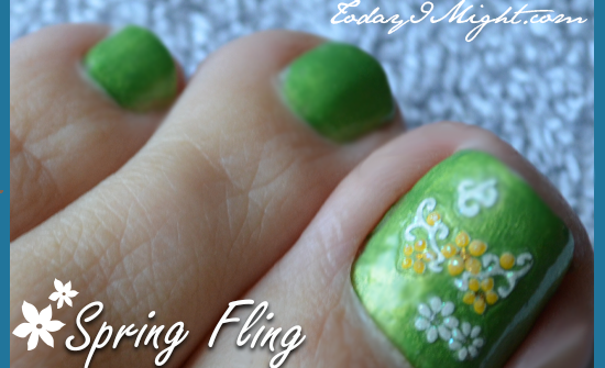 todayimight.com | Spring Fling Pedicure