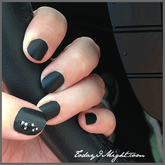 todayimight.com | Nails | Black Matte