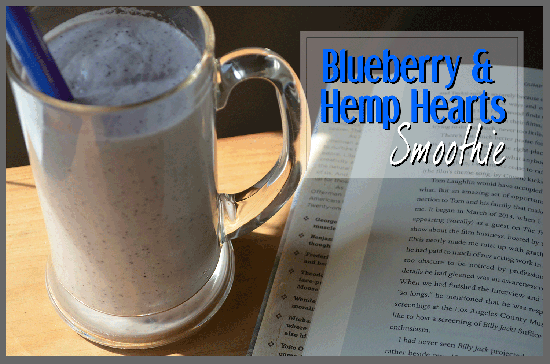 todayimight.com | Blueberry and Hemp Hearts Smoothie