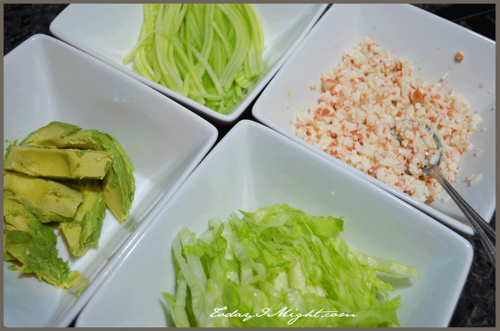todayimight.com | California Summer Roll | Ingredients