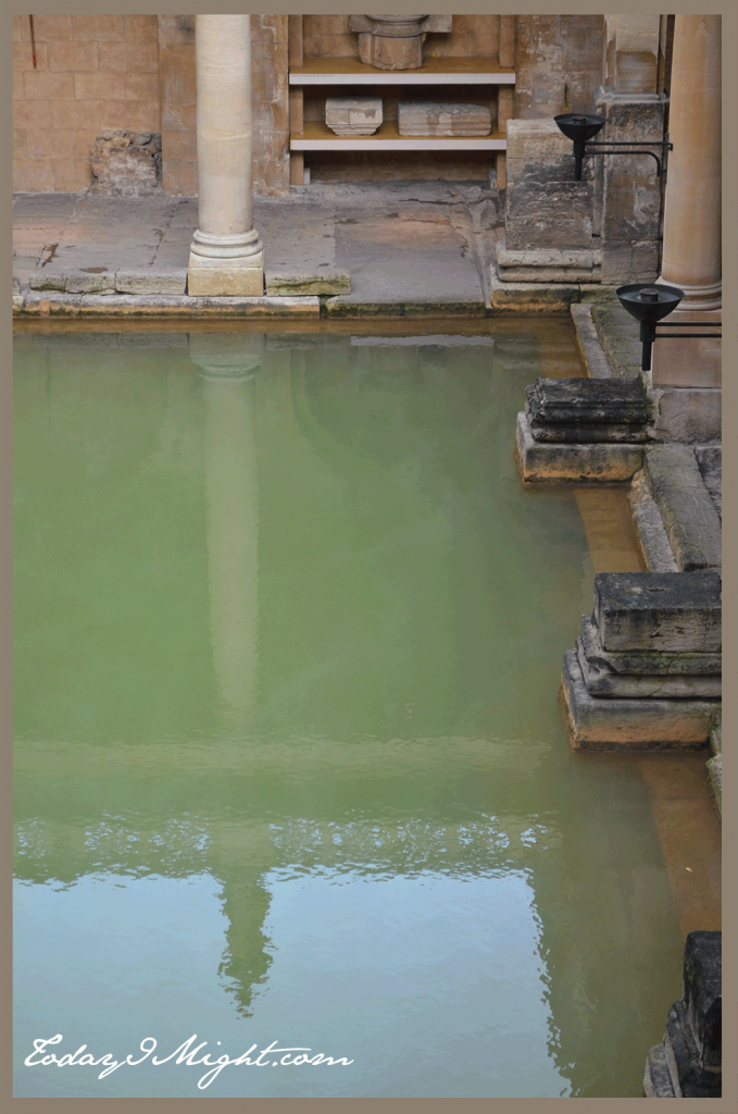 todayimight.com | Bath | Green Waters of Roman Baths