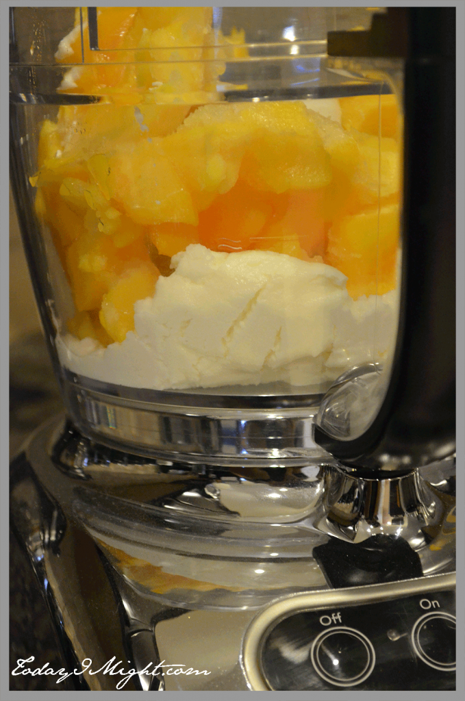 todayimight.com   Peaches and Yogurt Mixture in Food Processor