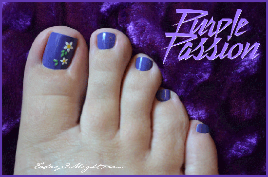 todayimight.com | Purple Passion Pedicure