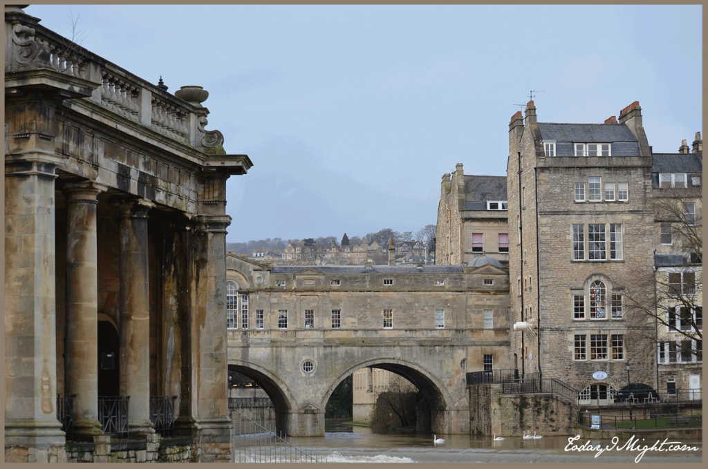 todayimight.com | Bath | Pulteney Bridge of the River Avon