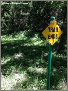 todayimight.com | June Jumpstart | Trail Ends Sign