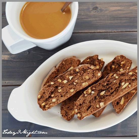 todayimight.com | Almond Chocolate Biscotti