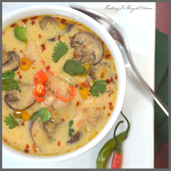 todayimight.com | Thai Chicken Coconut Soup