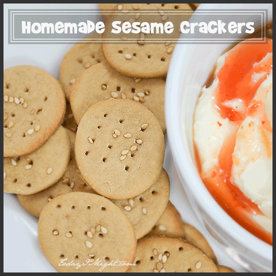 todayimight.com | Homemade Sesame Crackers Recipe