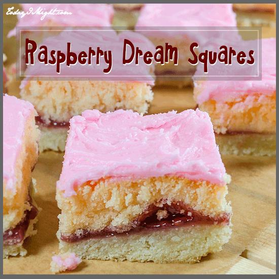 todayimight.com | Raspberry Dream Squares Recipe