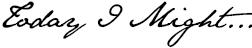 todayimight.com   Logo