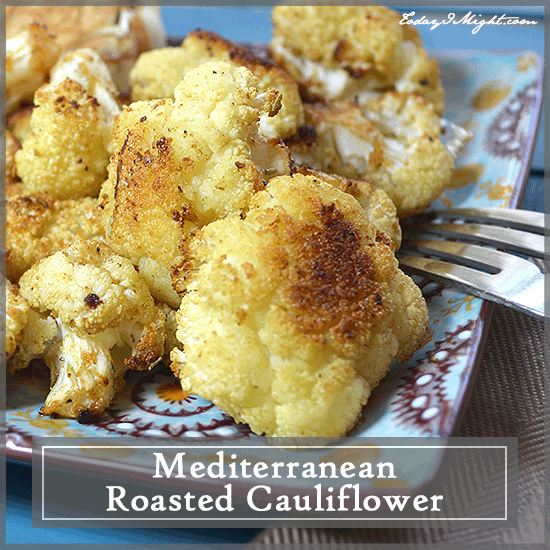 todayimight.com | Plate of Mediterranean Roasted Cauliflower