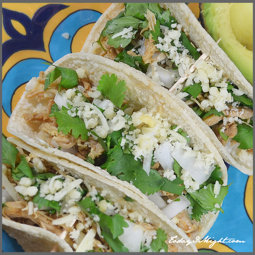 todayimight.com | Slow-Cooker Chicken Street Tacos