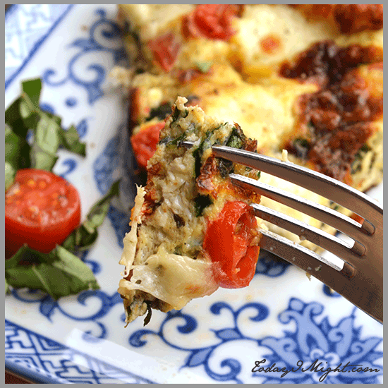 todayimight.com | Bite of Caprese Frittata