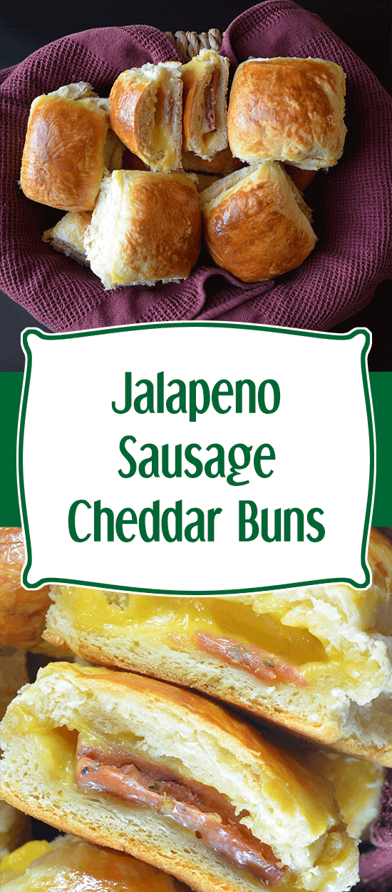 Jalapeno Sausage Cheddar Buns - Today I Might...